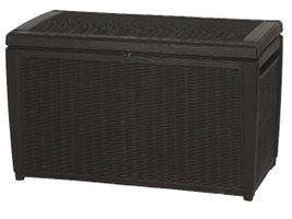 keter auflagenbox kaufen kissenbox aus kunststoff in holzoptik. Black Bedroom Furniture Sets. Home Design Ideas