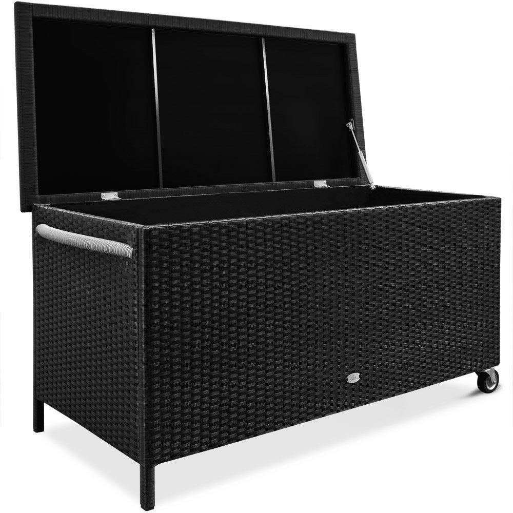 Kissenbox Auflagenbox Design Kunststoff braun Garten Sitztruhe Compact