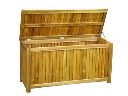 garten aufbewahrungsbox aus holz mit deckel neu. Black Bedroom Furniture Sets. Home Design Ideas